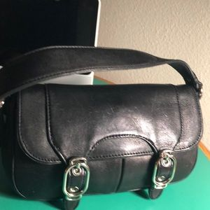 Cole Haan Black Leather Small Shoulder Handbag
